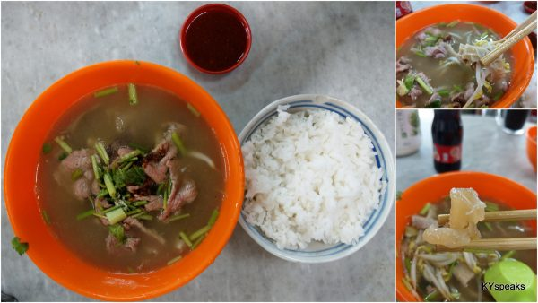 mixed beef soup with rice, or you can have it with noodle