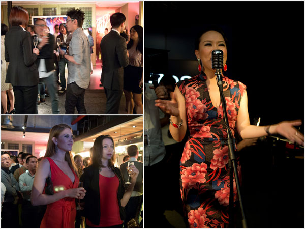 Shanghai based jazz singer Jasmine Chen serenades to guests