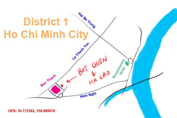 map to ben thanh market, Saigon