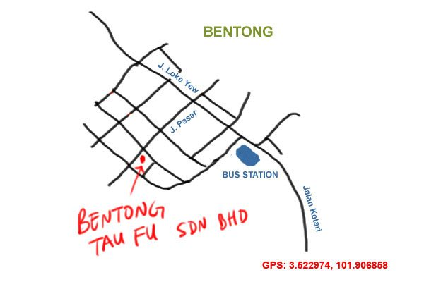 map to Bentong Tau Fu Sdn Bhd