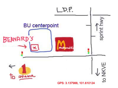 location map of Bernard's, BU Centrepoint