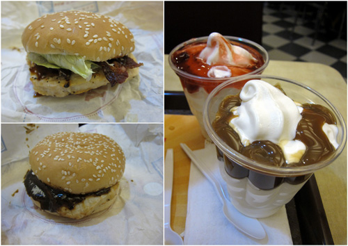 BK Beefacon & Black Pepper grilled chicken, Sundae!