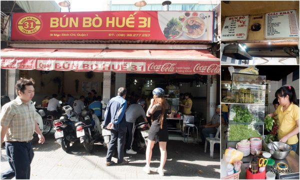 Bun Bo Hue 31, at District 1, Ho Chi Minh City