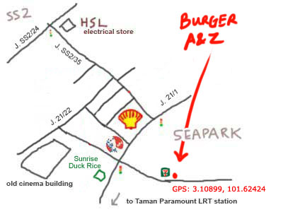 map to sea park burger A & Z