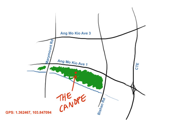 map to Canopy Garden Dining at Ang Mo Kio