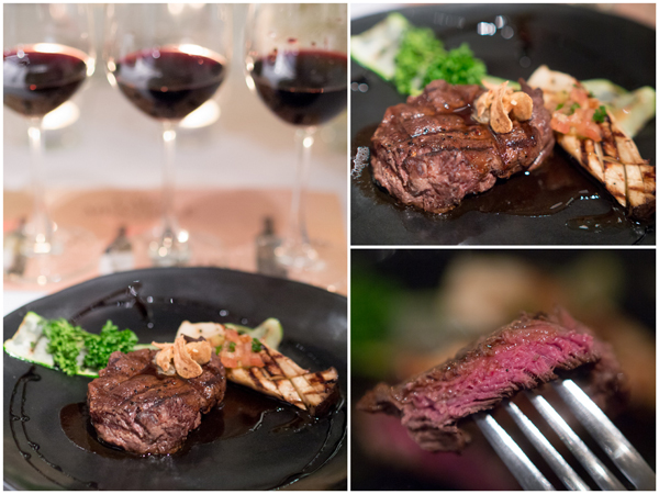 grilled beef tenderloin with Eryngii mushroom, Cabernet Sauvignon 2009