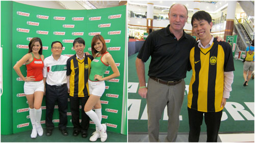 with the Liverpool legend Steve McMahon
