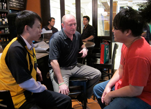 joshua & I have a chat with Steve McMahon