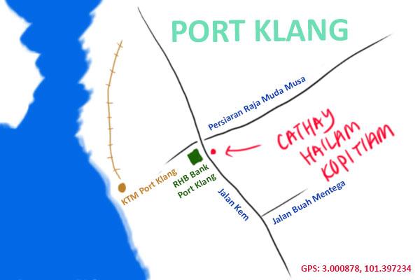 cathay hailam kopitiam map