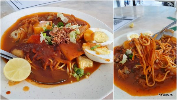 mee rebus (would have been jawa mee if you're Chinese?)
