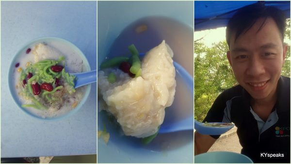 love my cendol with pulut or tapai