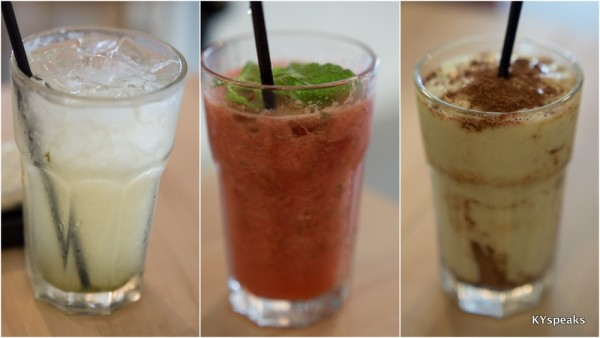refreshing drinks at Chai Bar