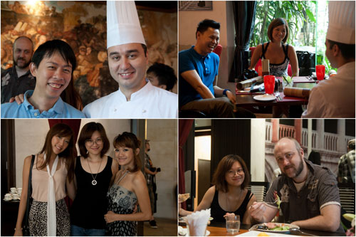 KY with Chef Fabrizio, Jon & Ciki, Cindy & Kim & Haze, Kim & Gareth
