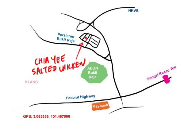 chia yee salted chicken, bandar baru klang map