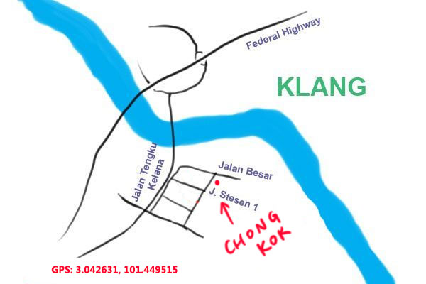 map to Chong Kok Kopitiam at Klang