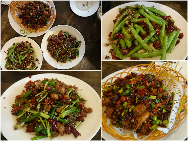 all three dishes turned out to be spicy, in a good way