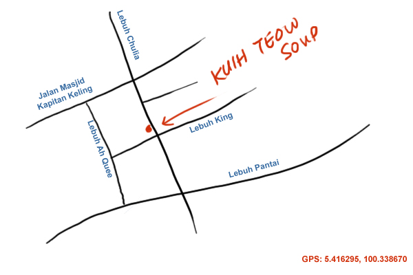 map to Chulia Street, Penang