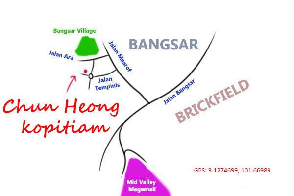 chun heong kopitiam map