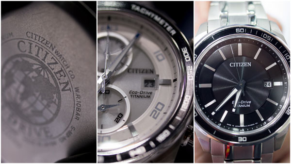 Citizen Eco-Drive Super Titanium CA0341-52A and BM6921-58E