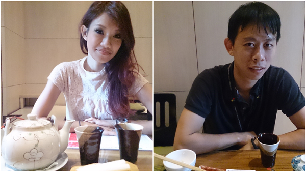 Haze and KY enjoying a quiet lunch at Coco-Tei