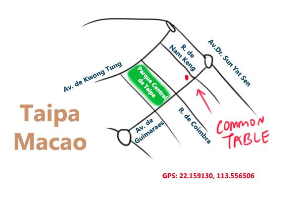 map to Common Table, Taipa, Macao