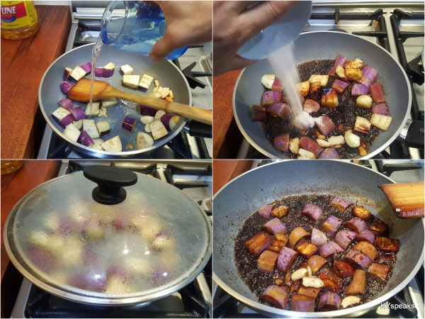 this fry brinjal dish is done within 5 minutes