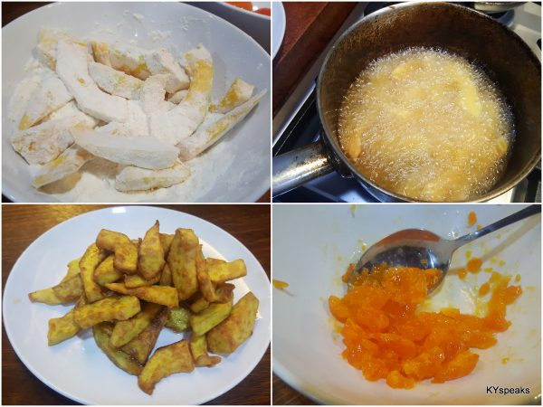 deep frying pumpkin is the first step