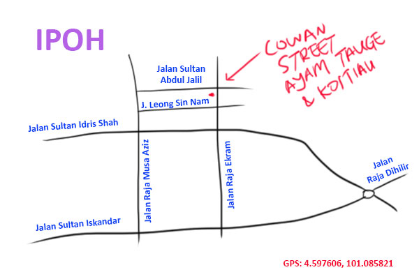 map to cowan street restaurant