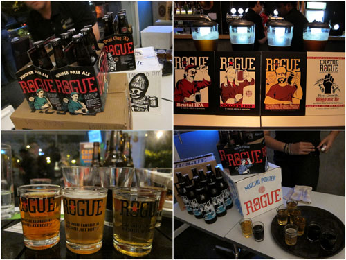 8 types of Rogue beer, plenty to go around