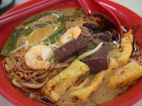 glorious Penang style curry mee, with coagulated blood