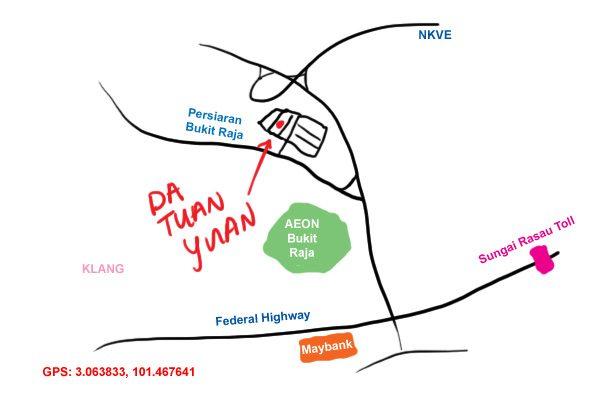 map to Da Tuan Yuan, Klang Bukit Raja