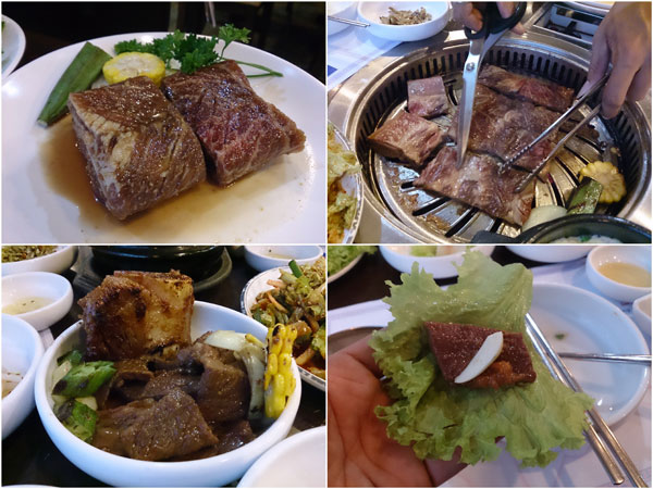 galbi - marinated beef ribs, always rich and delicious