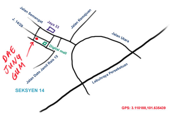 map to Dae Jang Gum at Seksyen 14, Petaling Jaya