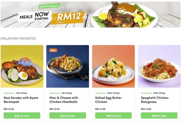 dahmakan meal, starting at RM 12