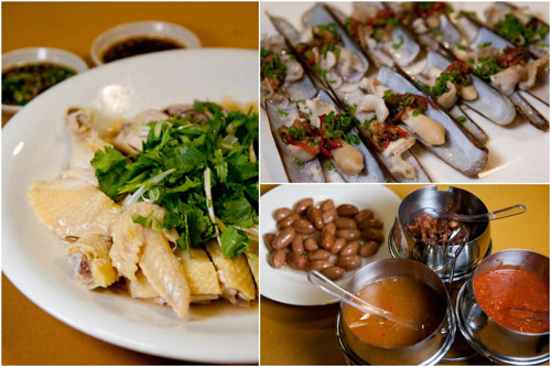 village steamed chicken, bamboo clams