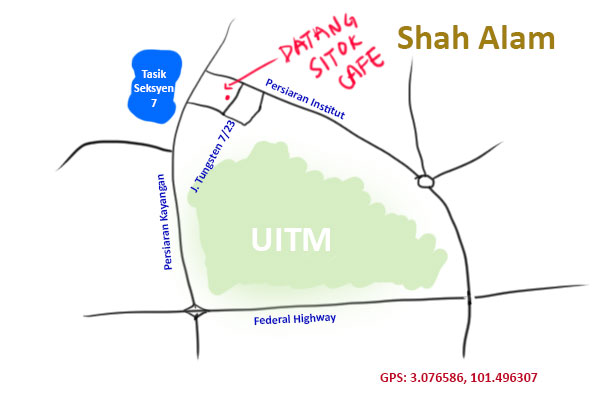 datang sitok cafe map