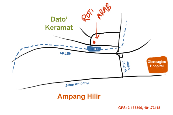 map to dato' keramat wet market