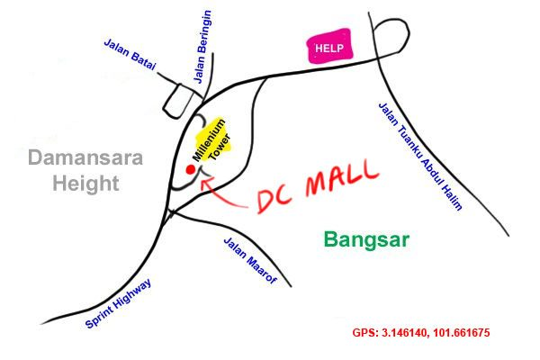 map to DC Mall