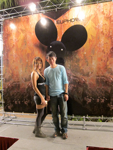 KY & Haze at Deadmau5, Sunway Lagoon 2011