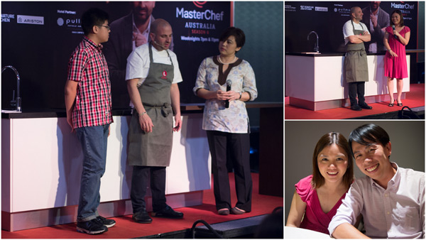 babeinthecityKL and Kelly were among the audience to go up on stage with George Calombaris