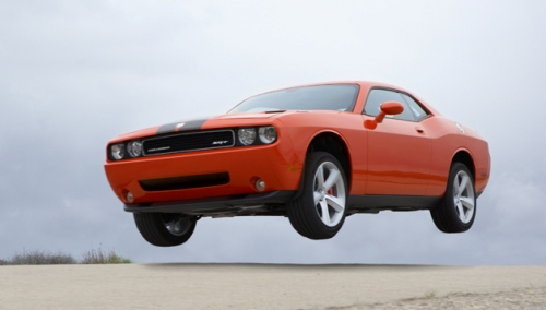 2008 dodge challenger action shot