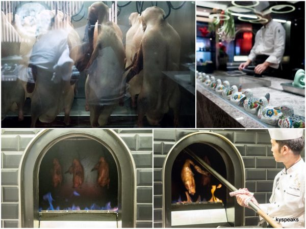Peking duck roasting room with Chef from Beijing