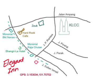 map to Elegant Inn, KL