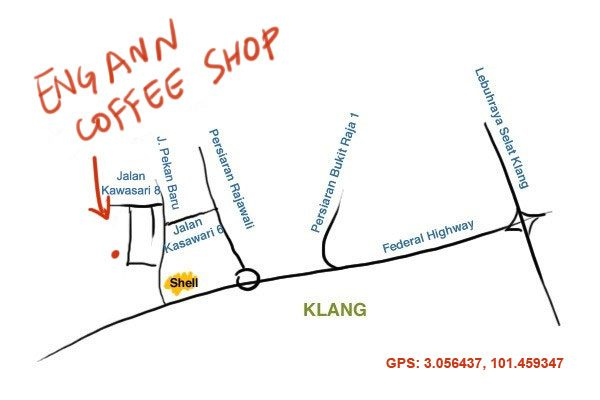 map to Eng Ann Coffee Shop