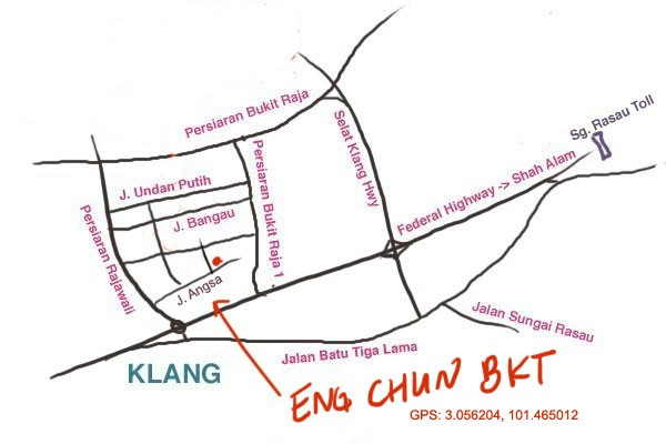 map to Eng Chun bak kut teh