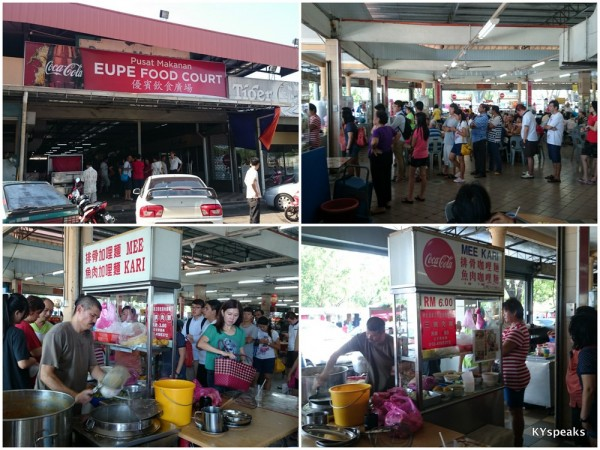 Curry Mee is the busiest stall at Eupe food court, sungai petani