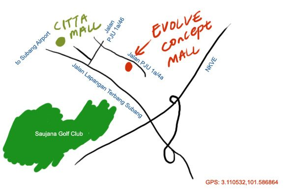 Evolve Concept Mall map