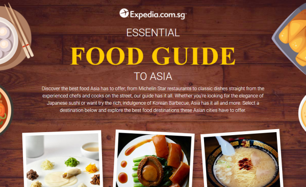 Expedia food guide main page