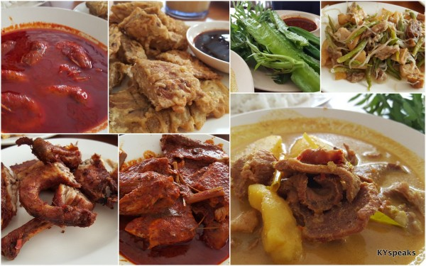 plenty of local dishes to choose from, including daging salai