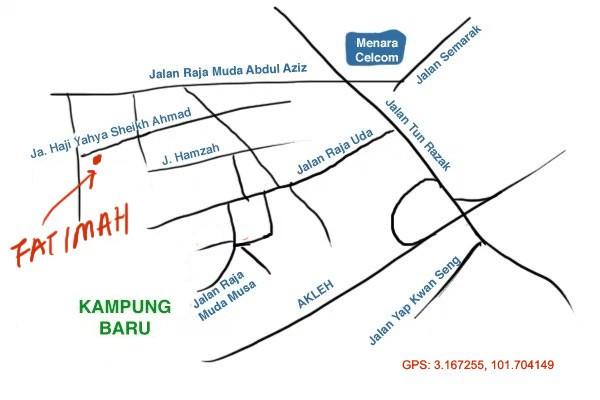 map to Fatimah Selera Kampung